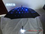Promoção LED Light Umbrella Publicidade LED Umbrella Handle LED Light Umbrella