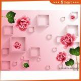ホーム装飾のためのピンクのローズデザイン3D花の油絵