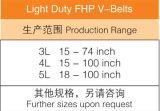 Fhpの軽量Vベルト3L 4L 5L