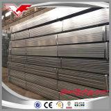 Tubo de acero cuadrado de la construcción del invernadero y rectangular pre galvanizado