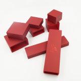 Pulseira de pingente de anel Caixa de plástico de gaveta de couro PU (J54-E2)