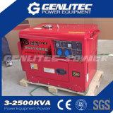 De lucht koelde Diesel van de Cilinder van de Schroeiplek 5kVA Stille Draagbare Generator