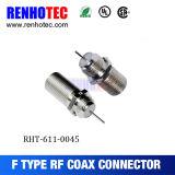 Tipo recto conector femenino de F del cable F del prensado del conector del RF