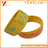 Forma Estilo silicone tapa pulseira com Logo impressão (YB-LY-WR-44)