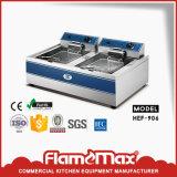 Frigideira elétrica profunda do aço inoxidável e de Freestand da microplaqueta com gabinete
