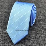 La cravate en soie des hommes rayés tissés en gros de mode (HWN03)