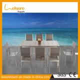 Realable Qualitätsgarten-im Freien speisendes Möbel-hölzernes Stuhl-Tisch-Aluminiumplastikset