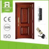 Puerta de acero decorativa del hierro labrado del nuevo diseño sola para la venta