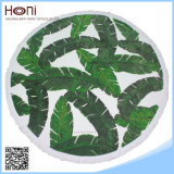 Vente en gros de feuilles de paume personnalisées Serviettes de plage 100% coton imprimées
