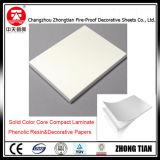 Laminado blanco del compacto de la base de color sólido
