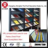 Tarjeta del laminado del compacto del Formica HPL de la partición de la oficina
