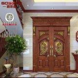 Bois d'acajou intérieur de double d'entrée principale de villa/portes en bois (GSP1-005)