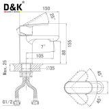 Konkurrenzfähiger Preis-Qualitäts-Messingverchromter einzelner Handgriff-Bassin-Mischungs-Hahn