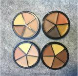 crema de fundación del maquillaje de Bronzer del maquillaje de la cara de Concealer de los colores 3D cinco