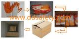 Gebreide Oranje Latex Met een laag bedekte Werkende Handschoen Dkl312