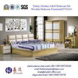 ماليزيا يمول أثاث المنزل سرير خشبي أثاث غرفة نوم (SH-007 #)