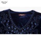 Оптовая продажа платья красивейшего исламского шикарного бархата Miss Вы Ailinna 801931 длинняя