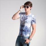 Le T-shirt promotionnel d'absorption courte bon marché en gros d'humidité/peut fait sur commande