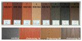 Decking en bois de la couleur WPC WPC de Decking/creux de jardin de coût bas et de qualité