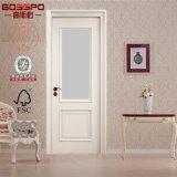 고전적인 단 하나 백색 색칠 유리제 목제 문 디자인 (GSP3-017)