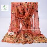 Viscose повелительница напечатанная воробьем национальная типа шали способа Шарф Фабрика