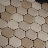Design bonito hexagonal em forma de cerâmica Azulejo de mosaico de vidro de azulejo