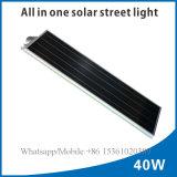 Luces de calle solares todas juntas de la aleación de aluminio del precio de fábrica 40W