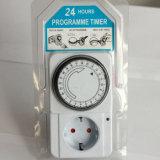 Механически гнездо отметчика времени 24 электрического энергосберегающего механически часа переключателя выхода гнезда отметчика времени приурочивая для бытовых устройств