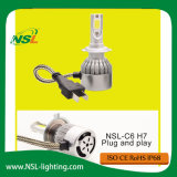 Farol do carro do diodo emissor de luz Bulds dos bulbos H7 30W 12V 24V 3000lm do farol do diodo emissor de luz