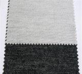 人のスーツのインターフェイスの衣服のアクセサリのための60GSMによって編まれる行間に書き込むファブリック