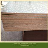 La película caliente de la prensa de dos veces hizo frente a la madera contrachapada para la construcción