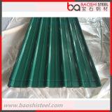 El color cubierto o galvanizó la hoja de acero acanalada del material para techos