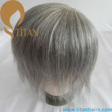 人のための灰色カラー毛システムToupee