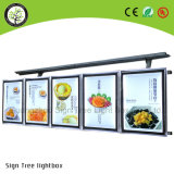 LED Publicitário Wire Hanging Super Slim Menu Light Box