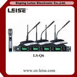 Ls-Q6 de Digitale Audio UHF Draadloze Microfoon van uitstekende kwaliteit van Vier Kanaal