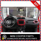 Ajuste central del estilo rojo material del ABS del accesorio auto para el modelo renegado (1PC/SET)