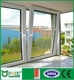 El polvo cubrió la ventana de la inclinación y de la vuelta de la aleación de aluminio