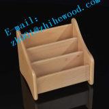 Crémaillère d'étalage de magasin en bois solide