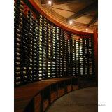 Weinkeller-Metallbildschirmanzeige-Speicher-an der Wand befestigte Wein-Flaschen-Zahnstange