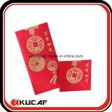Tecido de estampagem a quente Red Leisee Pocket Envelop para o Ano Novo Chinês