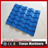 高品質は機械828を形作る金属板の屋根瓦ロールを艶をかけた