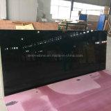 Pierre en verre cristallisée par qualité noire de carrelage de panneau de mur de brame