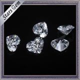 6X6mm Heart Shape Brilliant Cut White Color Cubic Zirconia Stones for Fashion Jewelry