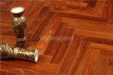 Suelo de madera del entarimado natural Herringbone de Kosso/suelo de madera dirigido