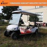 Carro de golfe recentemente elétrico de 6 passageiros, carro de golfe Sightseeing, carro de golfe barato para a venda