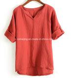 Рубашка хлопка `s женщин Green&Wine