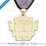 Medalha com convite da medalha do futebol do ouro & da prata ou do copo do futebol