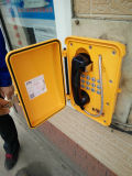 Установленный стеной железнодорожный телефон непредвиденный телефона промышленный с кнопочной панелью