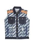 صنع وفقا لطلب الزّبون تصميم تباين لون جيب راعي بقر قميص بدون كم ([د5001])