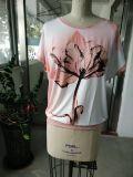 Vêtements de T-shirt de fleur de rose de mode de la fin d'été beaux
